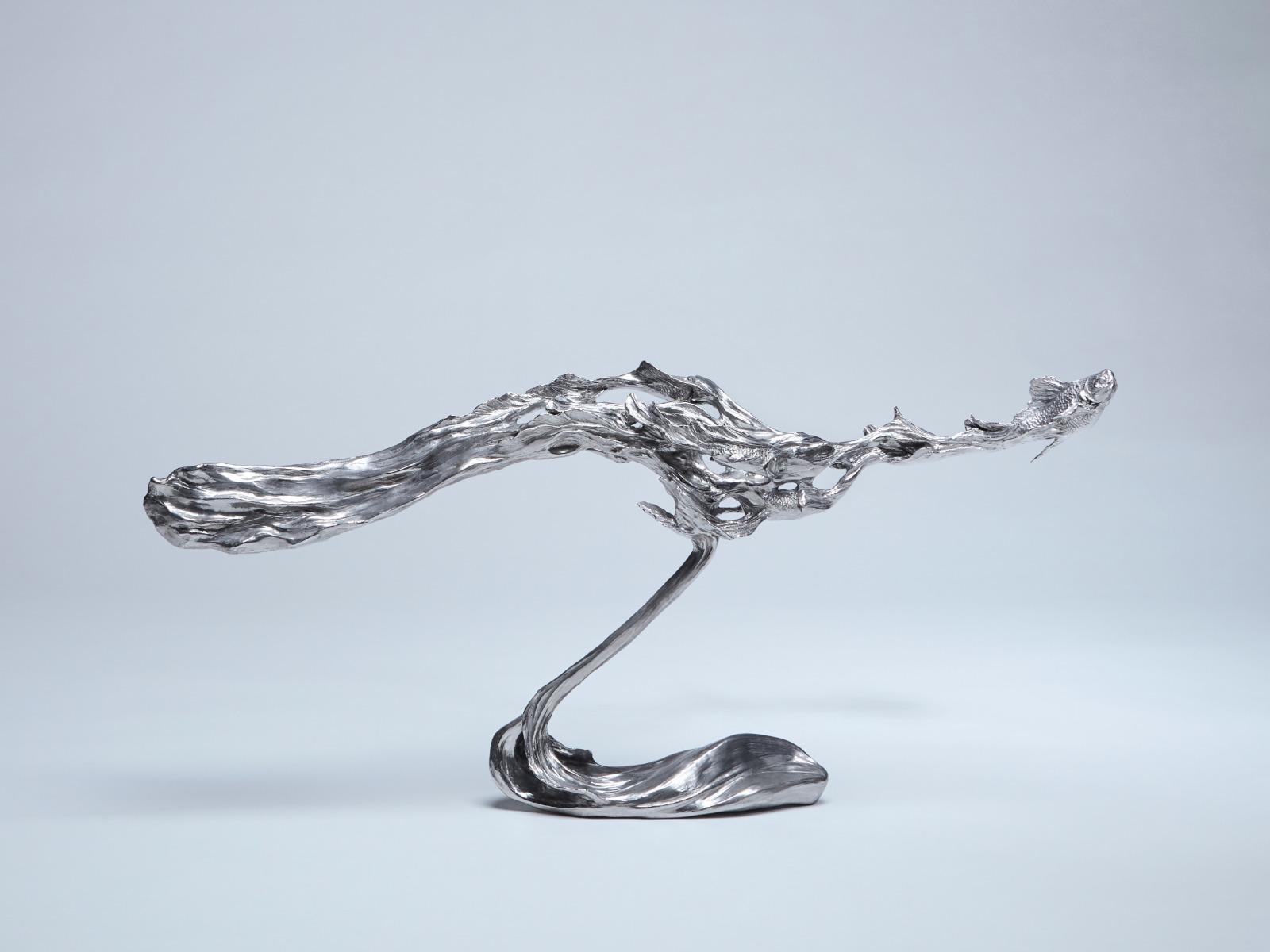 一生萬物不鏽鋼雕塑遠景照